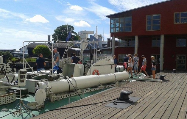 Visning vid Marinmuseum den 16 juli